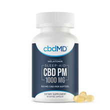 Load image into Gallery viewer, cbdMD CBD PM Softgel Capsules 1000mg 60 Count