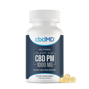 cbdMD CBD PM Softgel Capsules 1000mg 60 Count