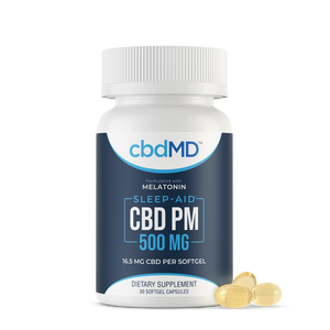 cbdMD CBD PM Softgel Capsules 500mg 30 Count
