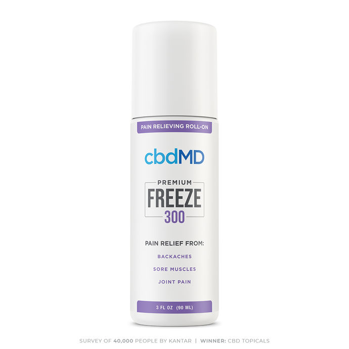 cbdMD CBD Freeze Pain Relief Gel Roll On 300mg