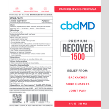 Load image into Gallery viewer, cbdMD CBD Recover - Inflammation Formula -1500mg - Squeeze