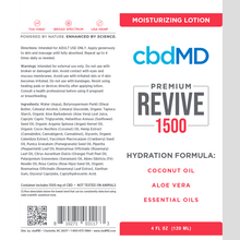 Load image into Gallery viewer, cbdMD CBD Revive Moisturizing Lotion 1500mg