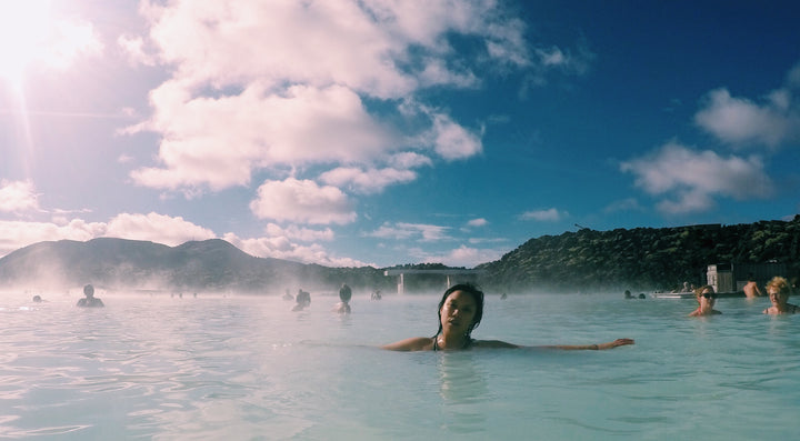 Kim Anh in lagoon in Iceland