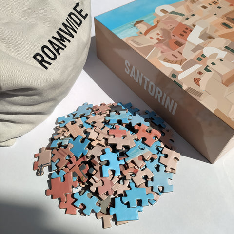 Roamwide Santorini jigsaw puzzle for adults