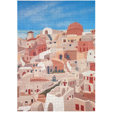 Santorini jigsaw puzzle for adults 1000 pieces
