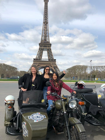 Stephanie Le and family in Paris