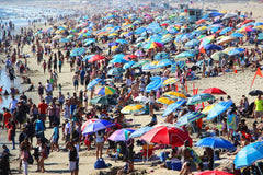 Extremely crowded beach