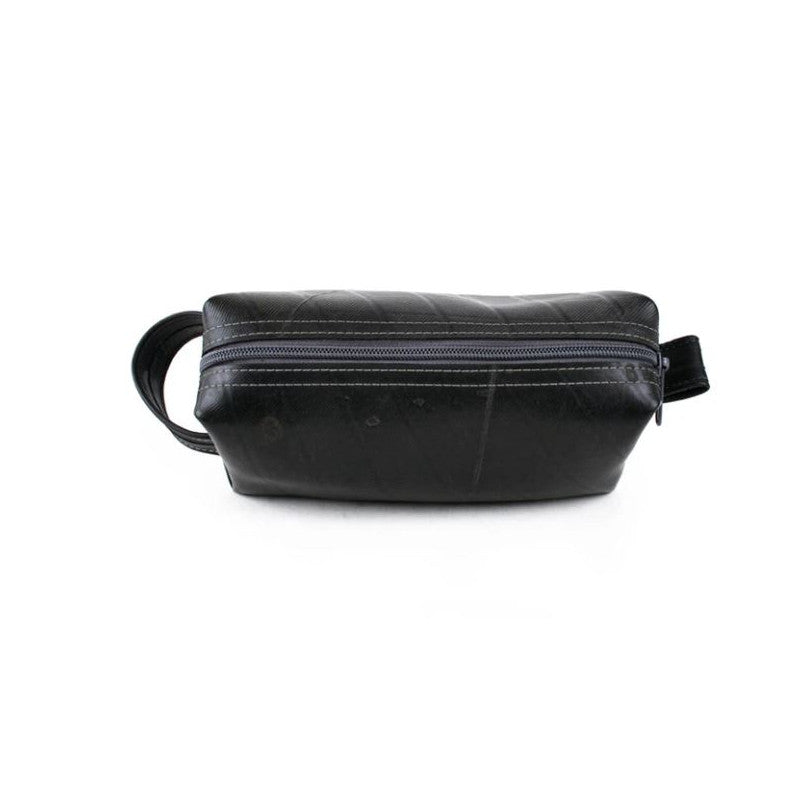 Alchemy Goods Elliott Mini charcoal dopp kit zip top view