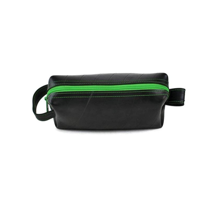 Alchemy Goods Elliott Mini lime dopp kit zip top view
