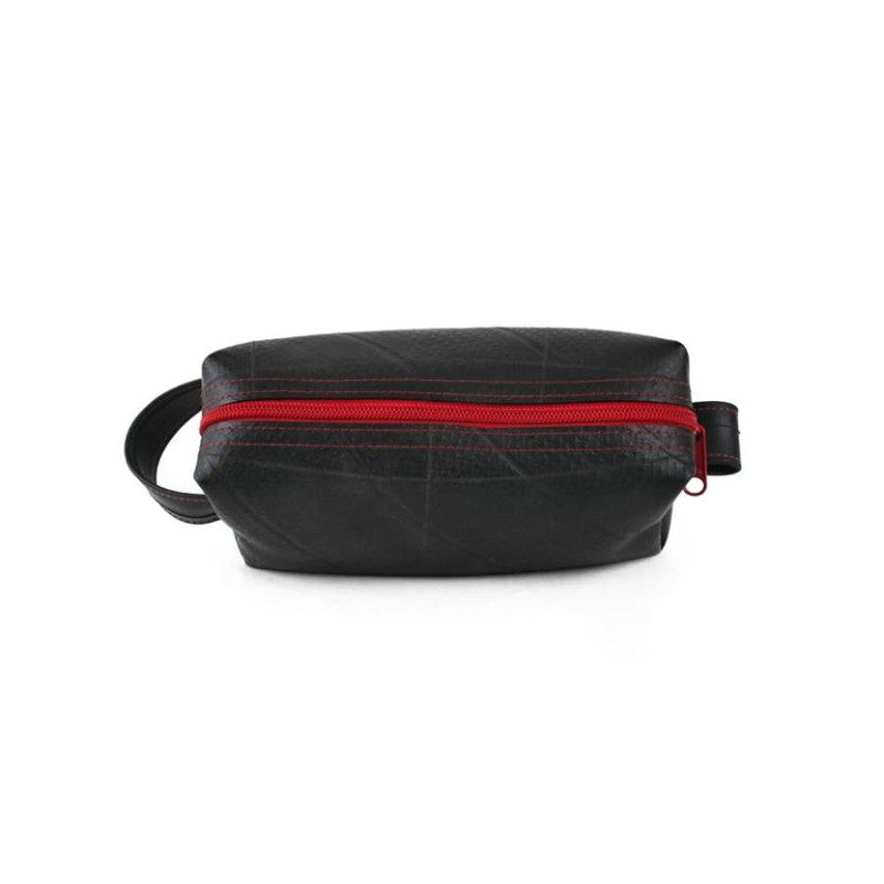 Alchemy Goods Elliott Mini red dopp kit zip top view