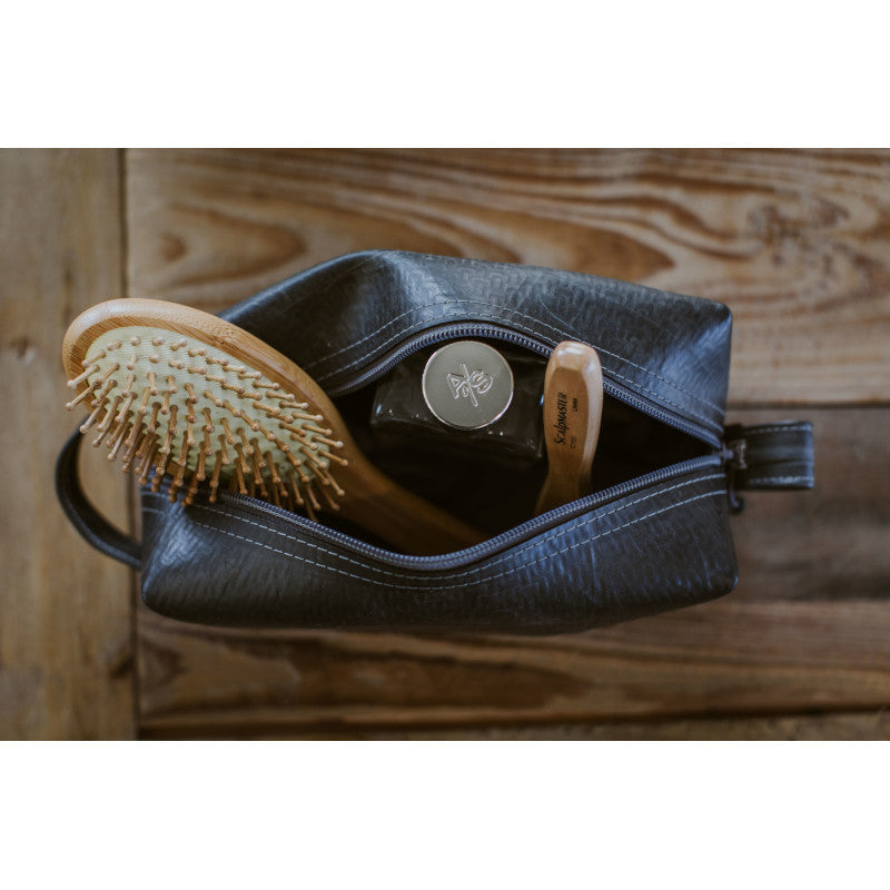 Alchemy Goods Elliott large dopp kit with toiletries inside