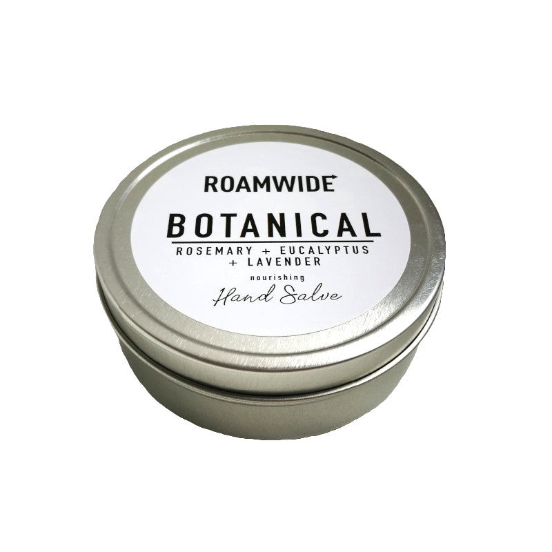 Roamwide nourishing hand salve made with botanicals