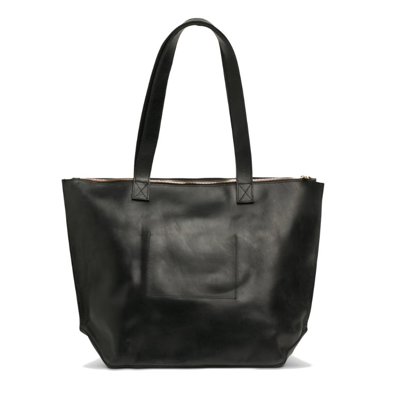 Rear view of the black Entoto Zip Tote