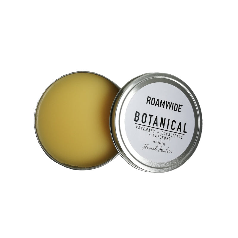 Roamwide nourishing natural hand salve in a recyclable tin