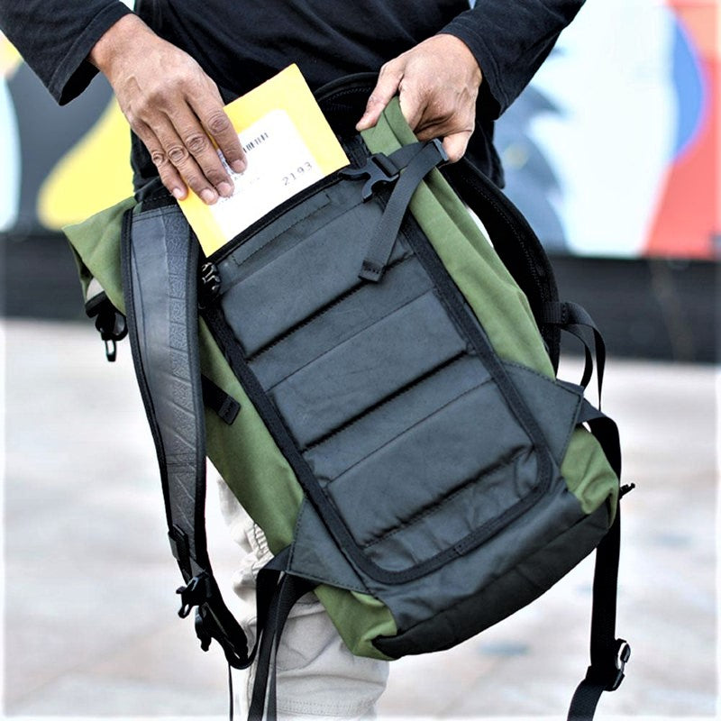 Soldier Waterproof Laptop Backpack - concealed pocket