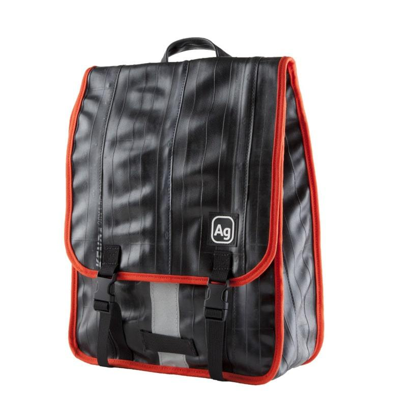 Alchemy Goods Madison laptop backpack with orange accents front view