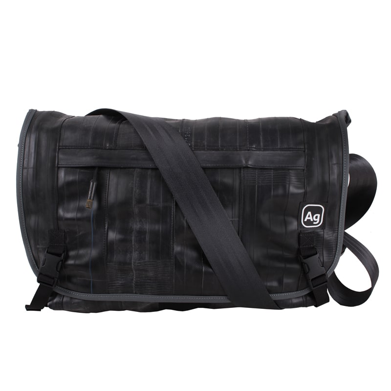 Alchemy Goods Pike Messenger Bag charcoal front view