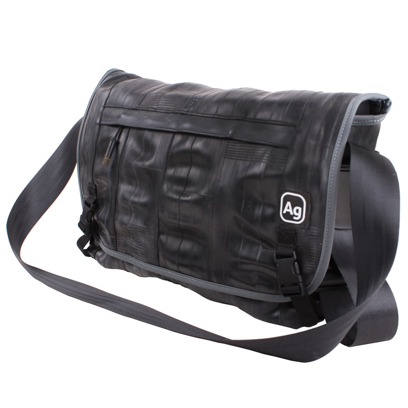 Alchemy Goods Pike Messenger Bag charcoal side view