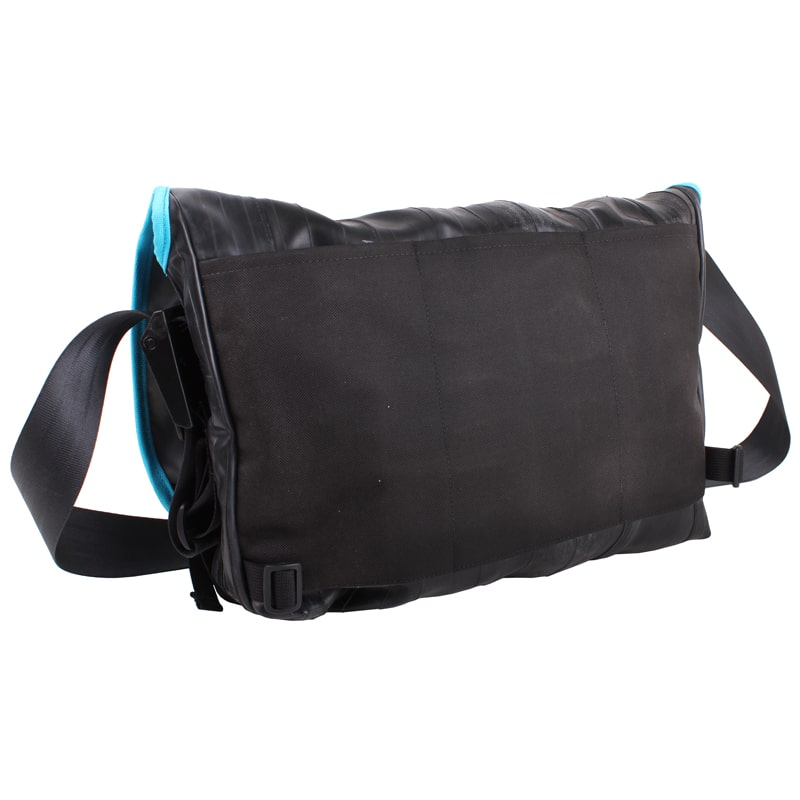 Alchemy Goods Pike Messenger Bag turquoise back angle view