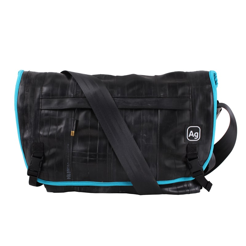 Alchemy Goods Pike Messenger Bag turquoise front view