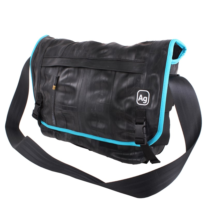 Alchemy Goods Pike Messenger Bag turquoise angle view