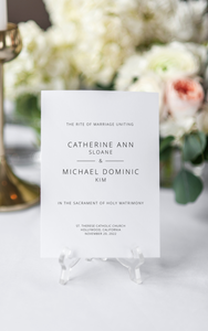 Rite of Marriage Wedding Program, Minimalist