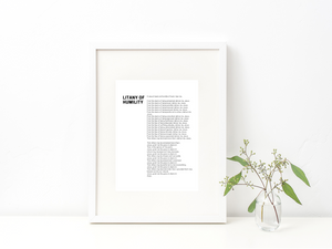 Litany of Humility Print