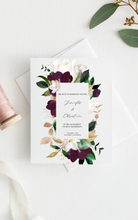 Load image into Gallery viewer, Rite of Marriage Wedding Program, Botanical