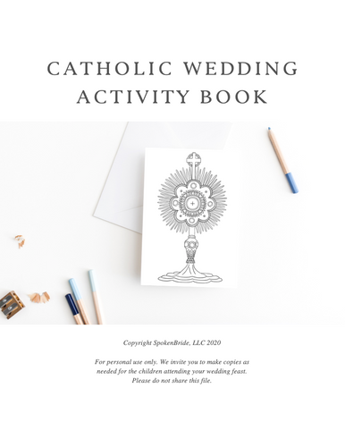 Catholic Wedding Coloring Pages