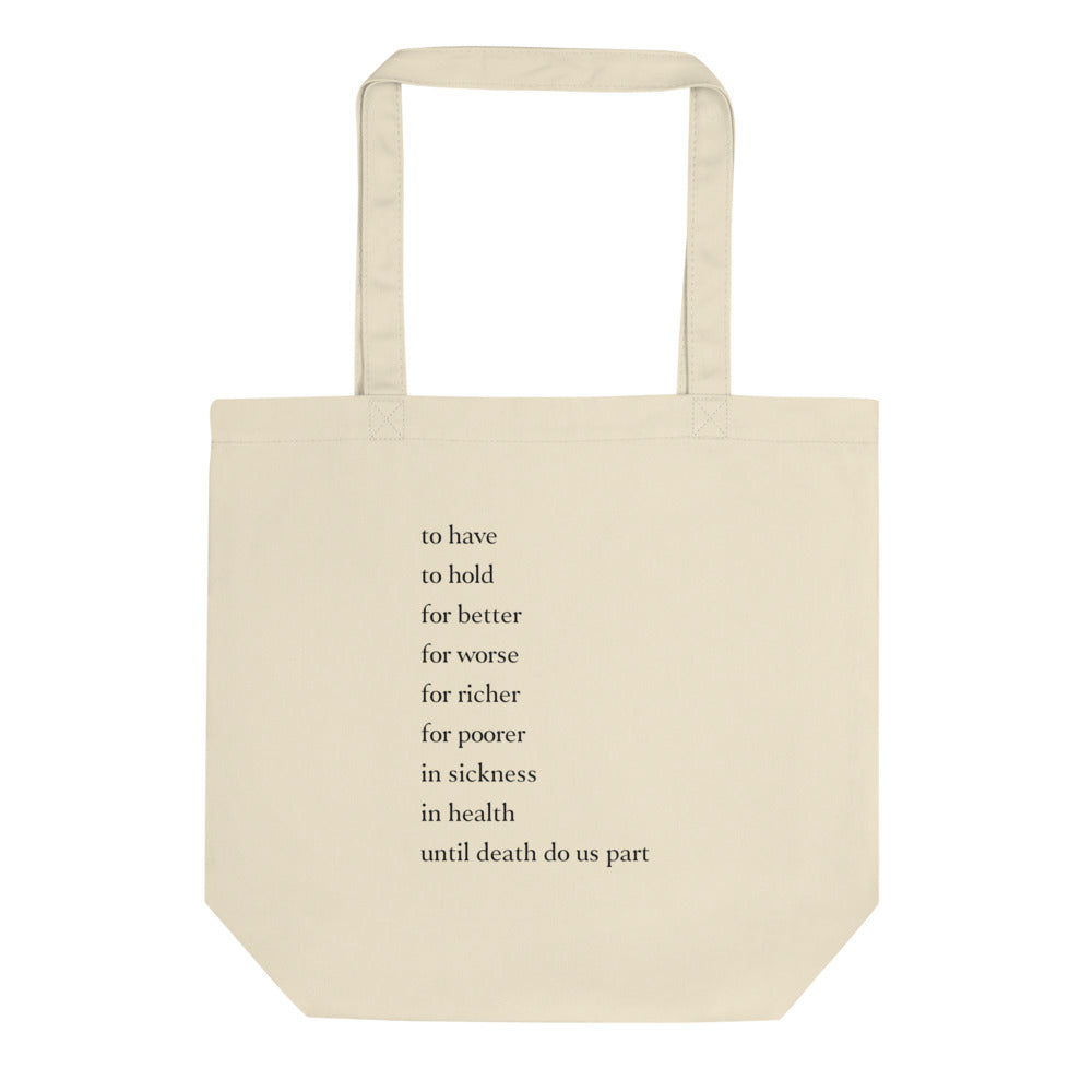 Traditional Vows Tote