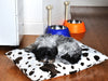 Brown Cow faux fur luxury dog bed