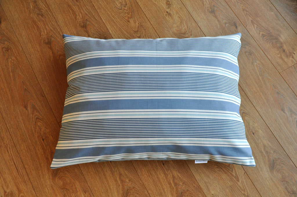 Sail Stripe (blue) luxury dog bed