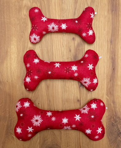 Christmas snowflakes cotton bone toy (red)