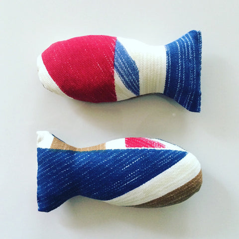 Union Jack catnip fish toy