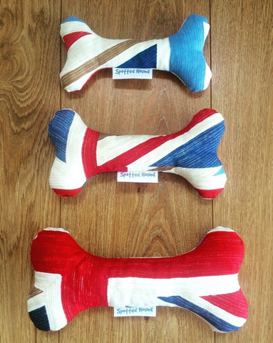 Union Jack cotton bone toy