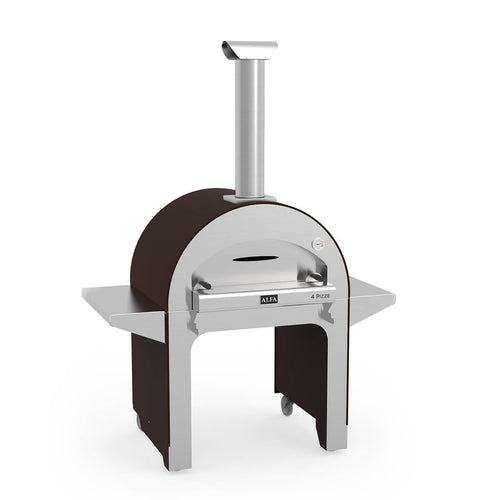Alfa 4 pizza wood fired pizza oven with trolley - 4 pizza capacity