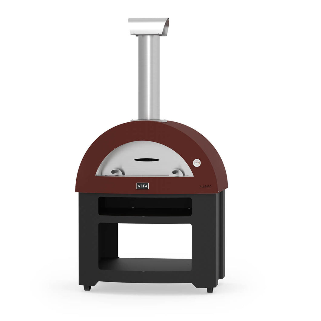 Alfa Allegro wood fired pizza oven on base - 5 pizza capacity