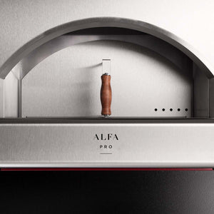 Alfa pro quick wood gas pizza oven with base