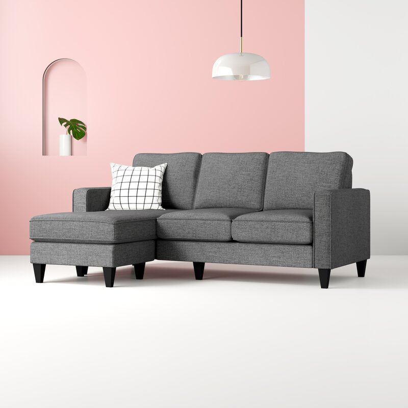 David | 3 Seater with Reverse Chaise - Banana Home