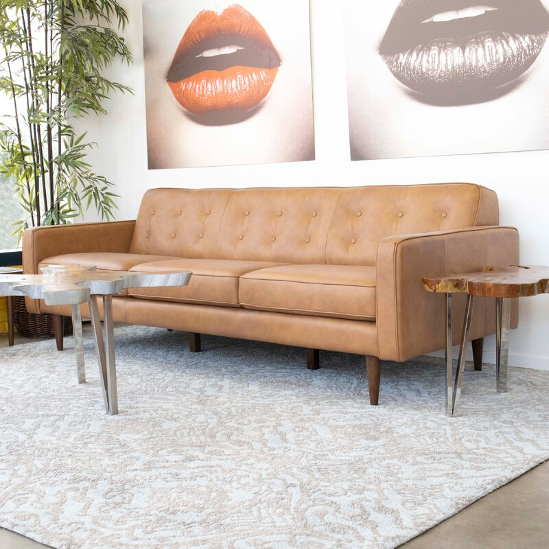 Lottie | 3 Seater Sofa Tan Leather - Banana Home