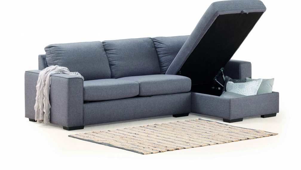 Ryder   Fabric 4 Seater Sofa Bed with Storage Chaise– Banana Home