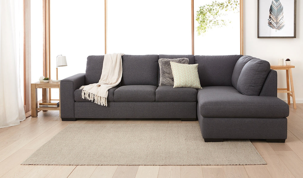 Ryder | 6 Seater Lounge Sofa with Chaise - Banana Home