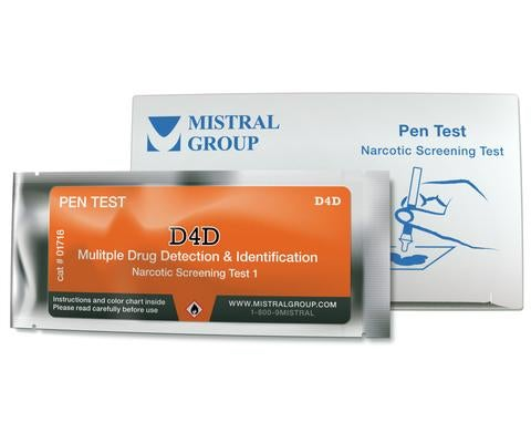 D4D Pen Drug Detection Test Kit Box of 10 tests