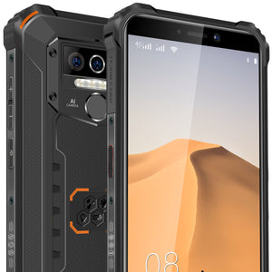 "Oukitel WP 5,  Ruggedized mobiltelefon, IP68, MIL-std-810G, Svart og Orange med 5,5"" skjerm"