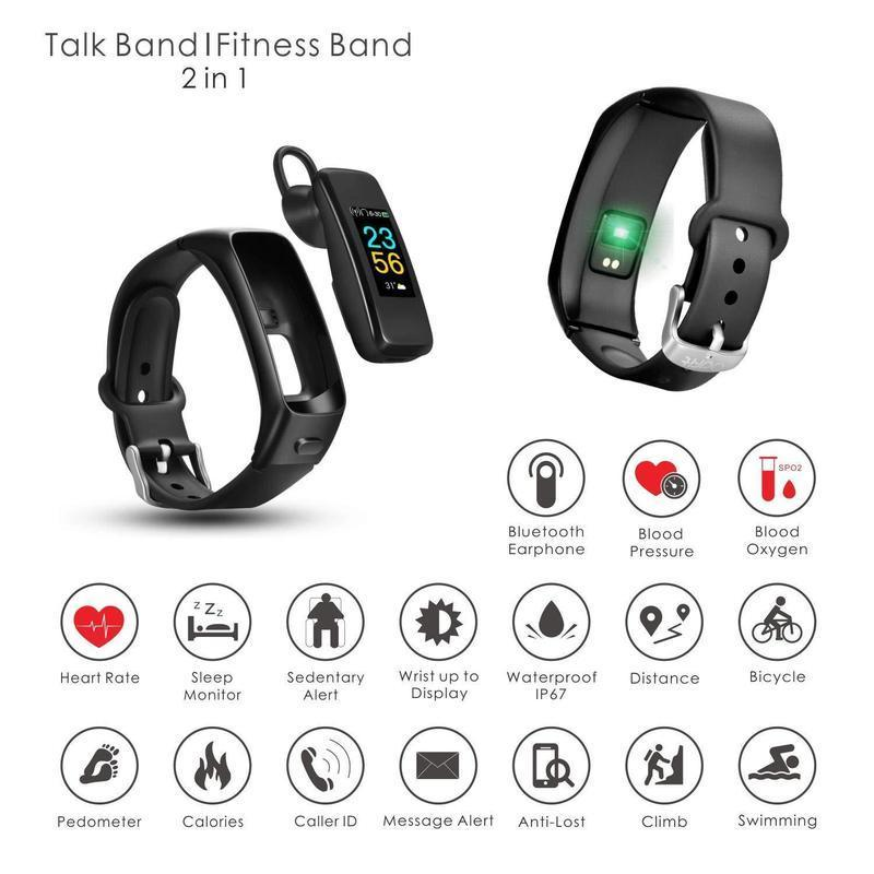【50% OFF】2 in 1 Multifunction Smart Watch With Bluetooth Earphones