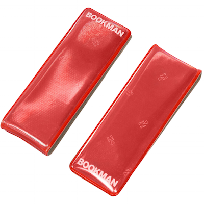 Bookman Clip-On Reflectors - Red
