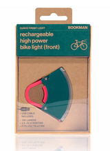 Bookman Curve Front Light - Petrol Green/Neon Hot Pink