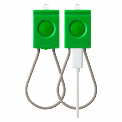 Bookman USB Front & Rear Light - Green