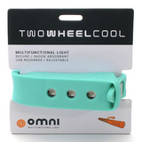Two Wheel Cool Omni Wearable Rider's Light - Celeste
