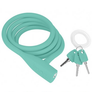 Knog Party Coil  Cable Lock - Turquoise